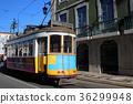 lisbon, tram, vehicle 36299948