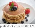 浆果 蓝莓 煎饼 36300171