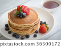 pancake with strawberry and blueberry 36300172