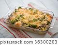 gratin with broccori and macaroni 36300203