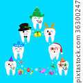 Fancy tooth characters design 36300247