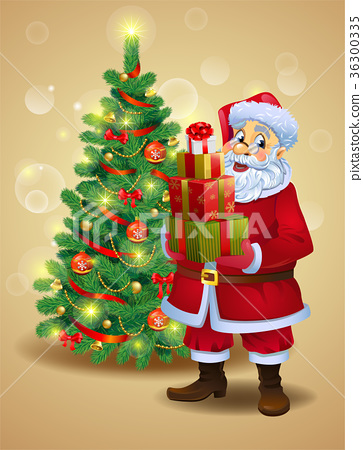 Santa Claus with gifts 36300335