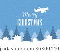 Merry Christmas. Santa Claus flies on an airplane 36300440