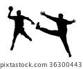 Handball player and goalkeeper 36300443