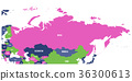 Political map of Russia and surrounding European 36300613