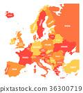 지도, 약도, 유럽 36300719