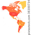 america, map, americas 36300734