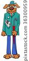 dog fantasy character cartoon 36300959