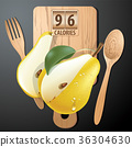 Vector of Calories in pear 36304630