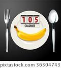 Vector of Calories in Banana 36304743