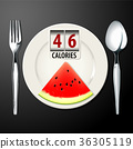 Vector of Calories in Watermelon 36305119