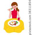 여성 식사 일러스트 36311854