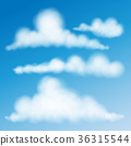 Set Of Clouds Vector Eps 10. 36315544
