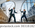 Knight businessman and boxer businesswoman  36316182
