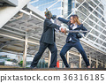 Knight businessman and boxer businesswoman 36316185