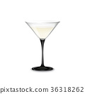 Transparent vector glass with Martini and olive 36318262