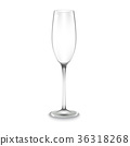 Glass of champagne isolated 36318268