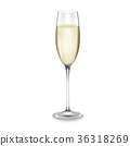Glass of champagne isolated 36318269