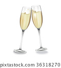Two glasses of champagne. 36318270