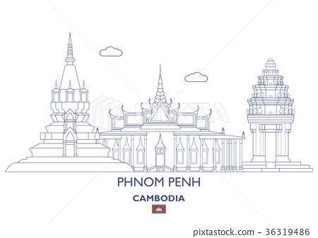 Phnom Penh City Skyline, Cambodia 36319486