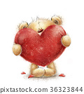 Teddy bear with the big red heart.Love heart 36323844