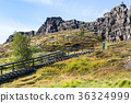 path to Logberg (Law Rock) mountain in Thingvellir 36324999
