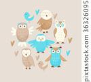 owl cute vector 36326095