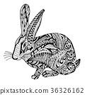 Rabbit hand drawn doodle graghic 36326162
