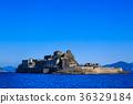 군함 섬과 푸른 하늘 군함 섬 크루즈 36329184