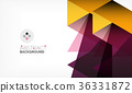 Geometric polygonal vector background 36331872