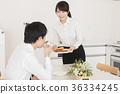 couple, breakfast, work 36334245