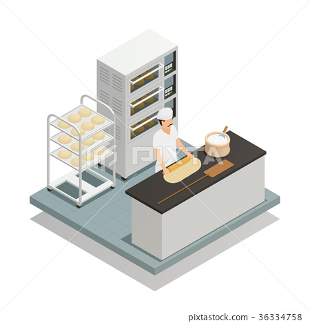 Bakery Isometric Composition 36334758