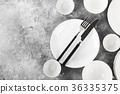 white, plate, tableware 36335375