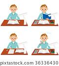男孩在學習 36336430