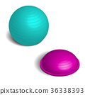 Fitball in 3D isometric style, vector illustration 36338393