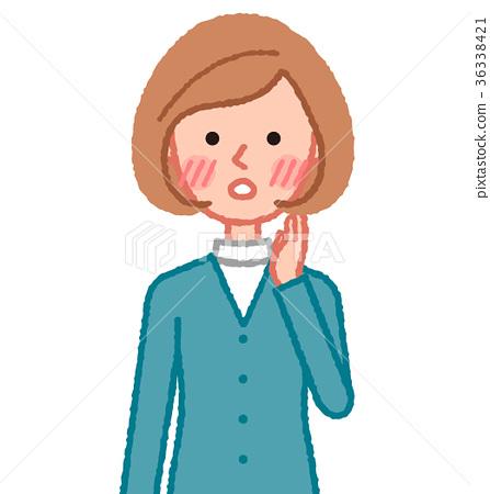 一个脸红的女人 36338421