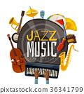 music, jazz, illustration 36341799
