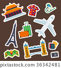 Travel vector icons flat tourism vacation place 36342481