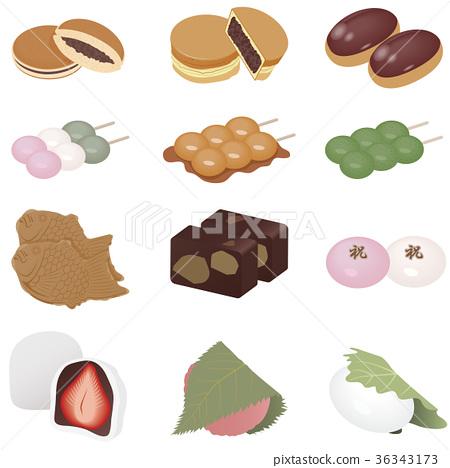 和果子 日本糖果 日式甜点 36343173