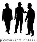 Three businessmen architects engineers or workers 36344333