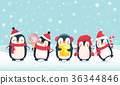 penguins cartoon illustration 36344846