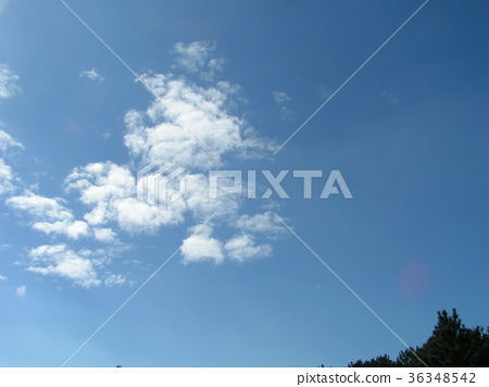 blue sky, blue, white cloud 36348542