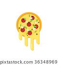 pizza, cheese, vector 36348969