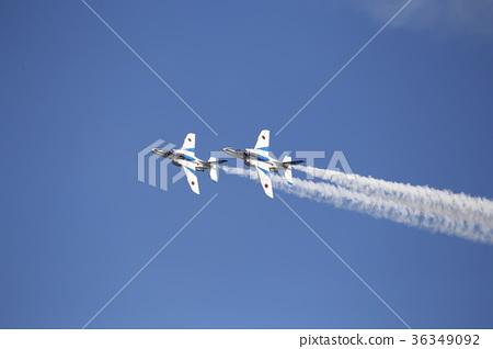 Formation flight of two blue impulses Iruma Air Festival 36349092