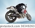 摩托车 骑自行车的人 自行车 36349263