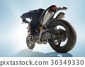摩托车 骑自行车的人 自行车 36349330