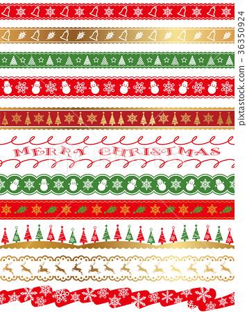無縫聖誕邊框設置 36350924