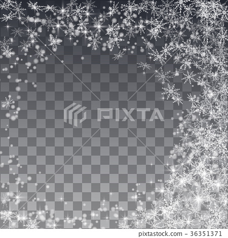 Falling snow on a transparent background.  36351371