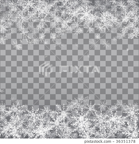Falling snow on a transparent background.  36351378