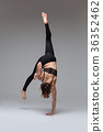 Beautiful woman dancer 36352462